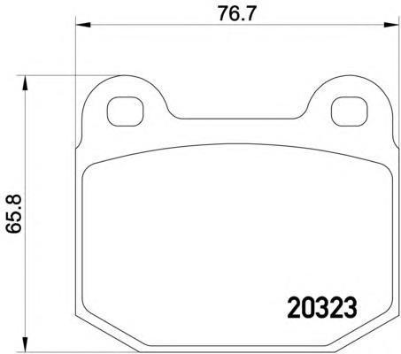 Колодки тормозныепередние Textar 20323062032306