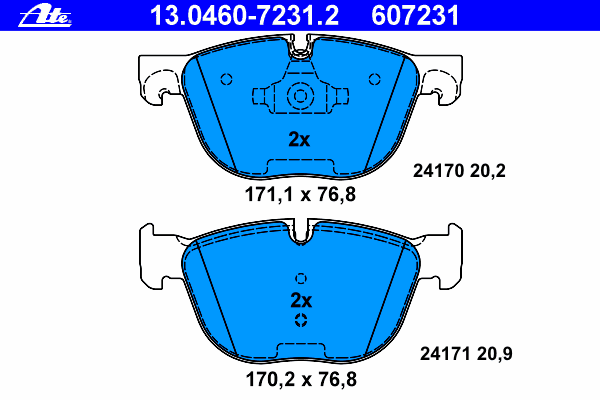 Колодки тормозные дисковые Ate 1304607231213046072312