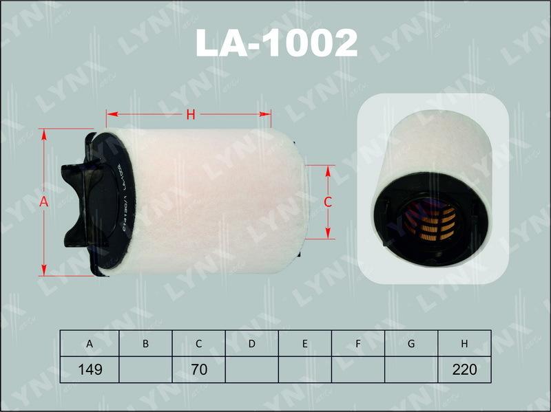 Фильтр воздушный Lynx LA1002LA1002
