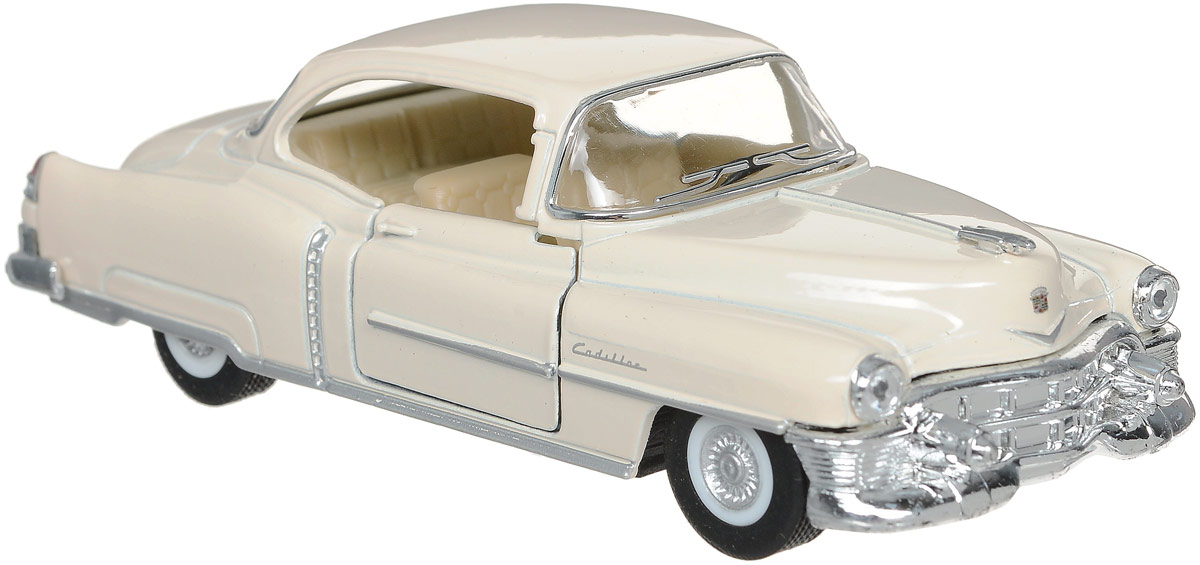 Kinsmart Модель автомобиля 1953 Cadillac Series 62 Coupe цвет бежевый 10 франков 1953 года