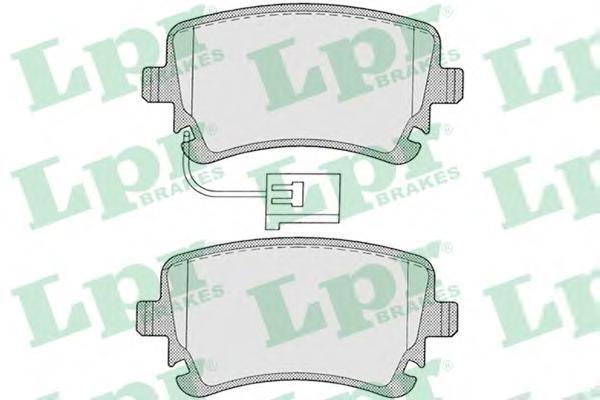 Колодки тормозные задние с датчиком LPR / AP 05P120605P1206