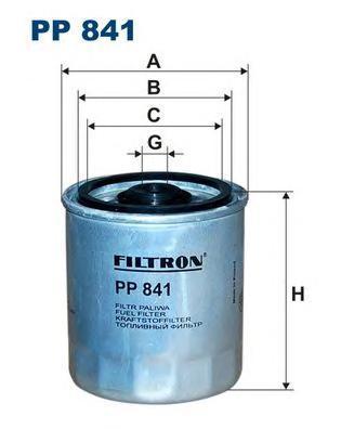 Топливный фильтр Filtron PP841PP841Фильтр топливный 208D/308D/508D 89- Evobus; ; Mercedes 190, 200, 250, 290, 300, 350, C (W202/S202), E (W/R/C/S124), E (W/S210), G (W461/W463), S (W140), Sprinter , V (638/2), Vito (638); Ssangyong