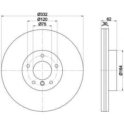 Диск тормозной передний вентилируемый Textar 9216080392160803