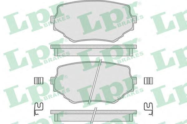 Колодки тормозные дисковые LPR / AP 05P79805P798