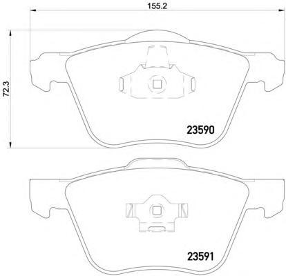 Колодки тормозные дисковые, 4 шт Textar 23590012359001