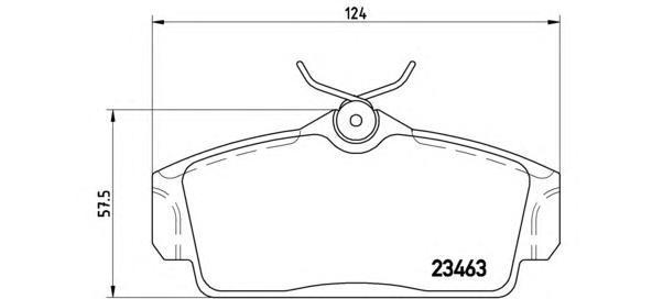 Колодки тормозные передние Brembo P56036P56036