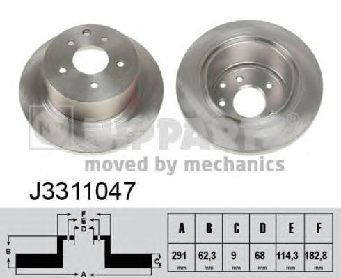 Диск тормозной Nipparts J3311047 комплект 2 штJ3311047