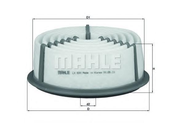 Фильтр воздушный Mahle/Knecht LX833LX833