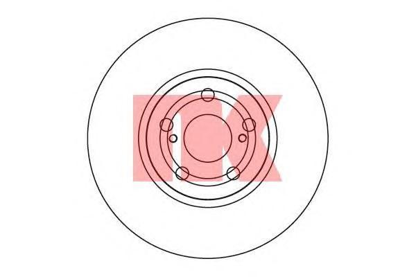 Диск тормозной NK 204590 комплект 2 шт204590