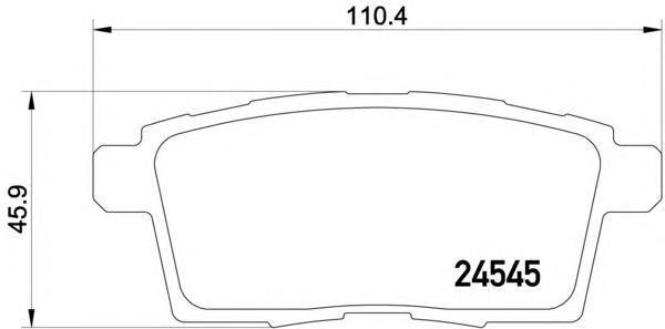 Колодки тормозные дисковые, 4 шт Textar 24545012454501