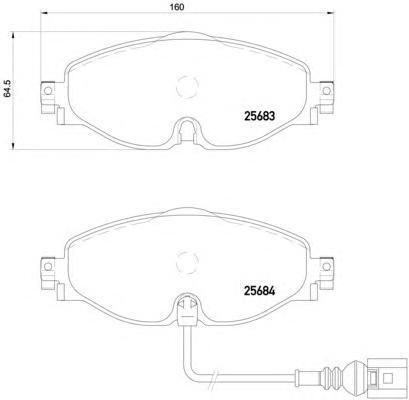 Колодки тормозные дисковые передние Brembo P85126P85126