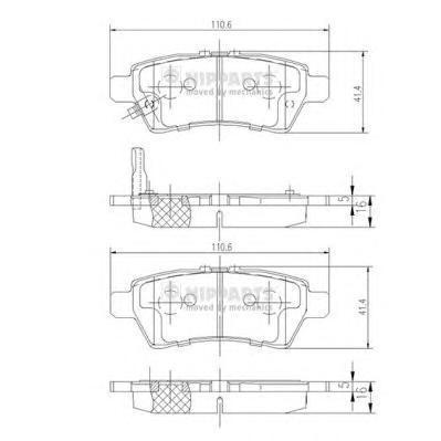 Колодки тормозные Nipparts J3611050J3611050