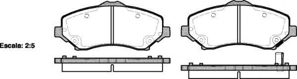 Колодки тормозные дисковые Remsa, комплект. 125902125902