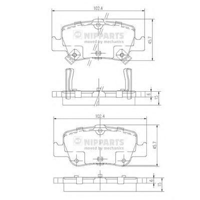 Колодки тормозные дисковые Nipparts J3612033J3612033