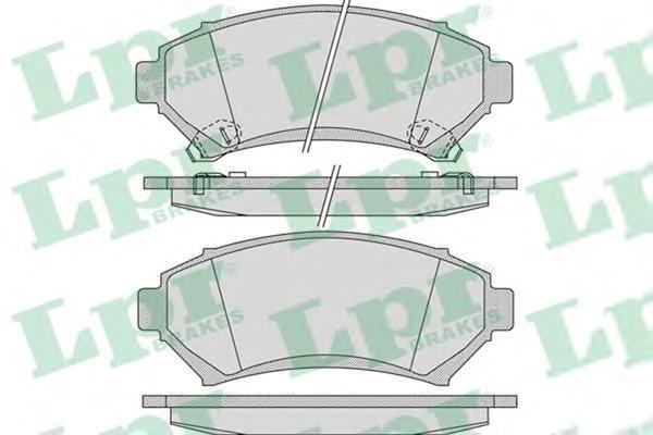 Колодки тормозные передние LPR / AP 05P105405P1054
