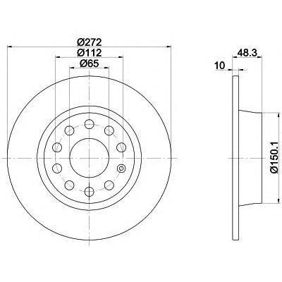 Диск тормозной задний Textar 92224903 комплект 2 шт92224903