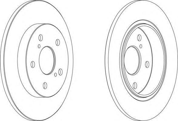Диск тормозной задний Ferodo DDF1645 комплект 2 штDDF1645