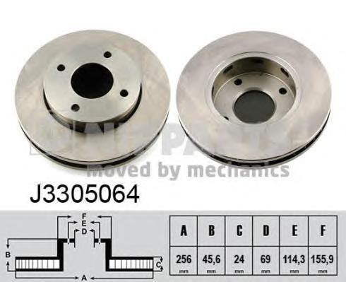 Диск тормозной Nipparts J3305064 комплект 2 штJ3305064