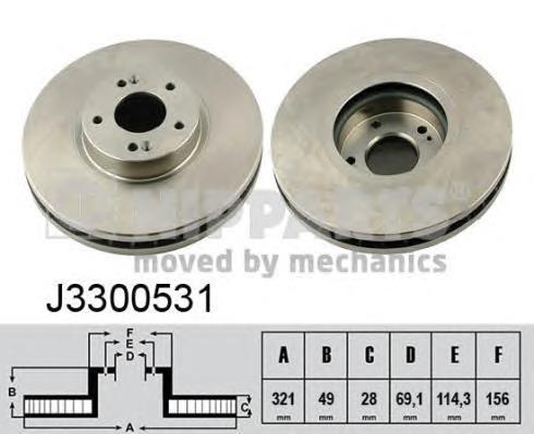 Диск тормозной передний Nipparts J3300531J3300531