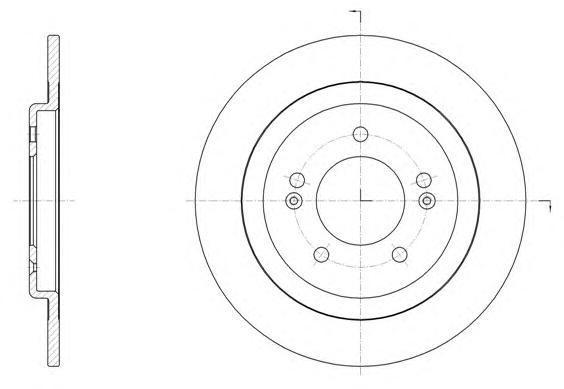Диск тормозной задний Remsa 6150600 комплект 2 шт6150600