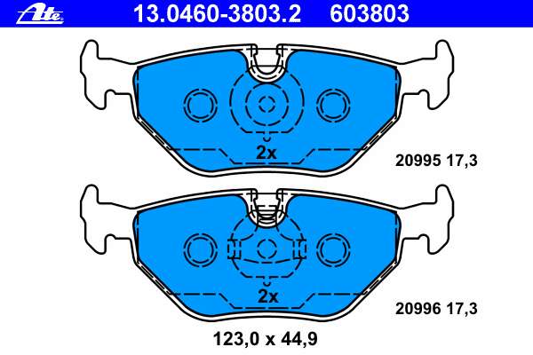 Колодки тормозные дисковые Ate 1304603803213046038032