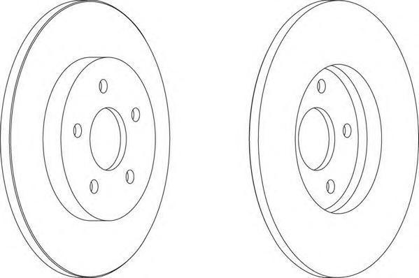 Диск тормозной задний Ferodo DDF1126 комплект 2 штDDF1126