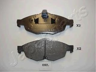 Колодки тормозные дисковые Japanparts PA092AFPA092AF