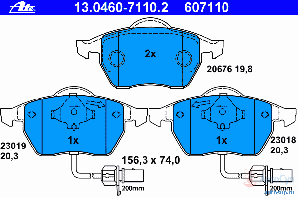 Колодки тормозные дисковые Ate 1304607110213046071102