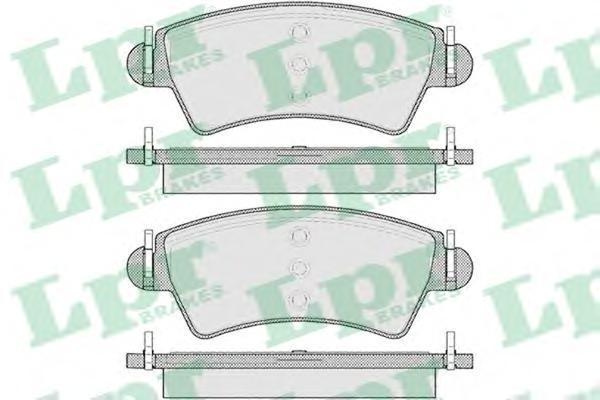 Колодки тормозные передниеLPR / AP 05P110505P1105