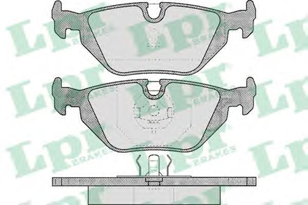 Колодки тормозные дисковые задние LPR / AP 05P46305P463
