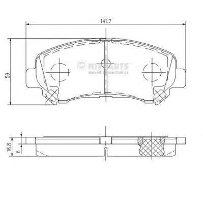 Колодки тормозные передние Nipparts J3601096J3601096