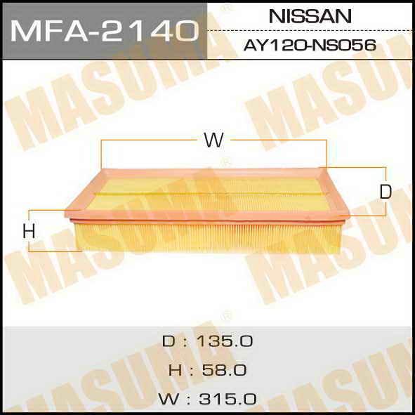 Фильтр воздушный Masuma MFA2140MFA2140