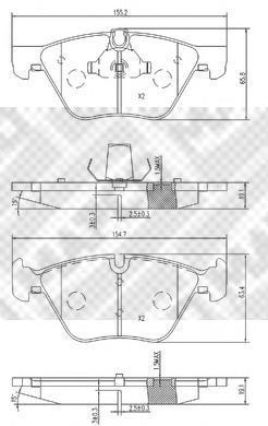 Колодки тормозные передние Mapco 68116811