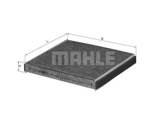 Фильтр салона угольный Mahle/Knecht LAK490LAK490
