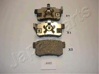 Колодки тормозные дисковые Japanparts PP445AFPP445AF