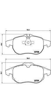 Колодки тормозные передние Brembo P59043P59043