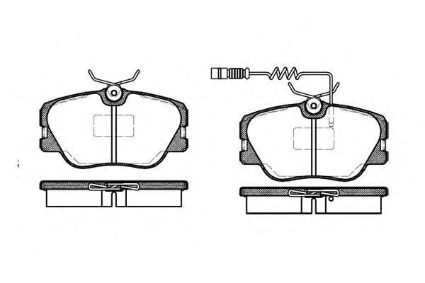 Колодки тормозные передние с датчиком Road House 218902218902