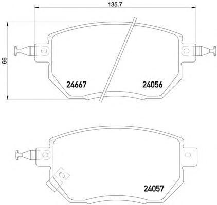 Колодки тормозные Textar 24056012405601