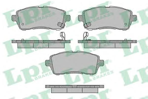 Колодки тормозные передние LPR / AP 05P167305P1673