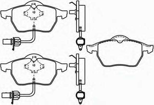 Колодки тормозные дисковые, 4 шт Textar 21938012193801