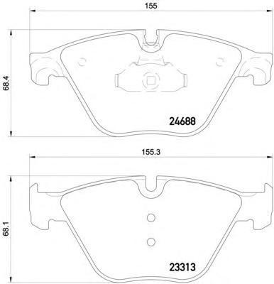 Колодки тормозные передние Textar 24688012468801