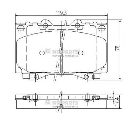 Колодки тормозные передние Nipparts J3602097J3602097
