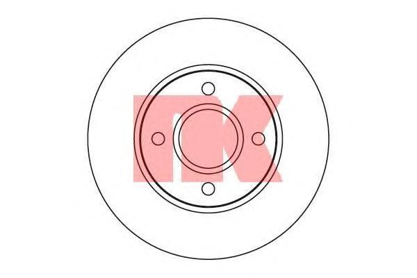 Диск тормозной NK 202533 комплект 2 шт202533