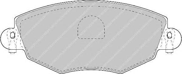 Колодки тормозные дисковые Premier Ferodo FDB1425FDB1425