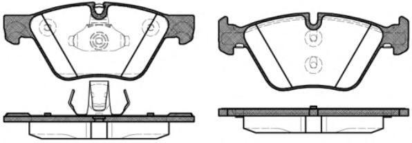 Колодки тормозные дисковые Remsa, комплект. 105230105230
