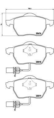 Колодки тормозные Brembo P85085P85085