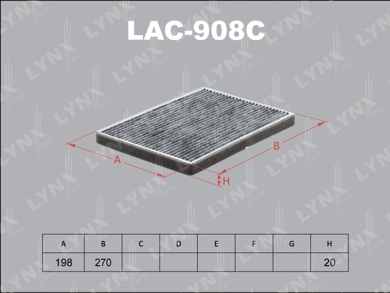 Фильтр салона Lynx LAC908C фильтр воздушный lynx la113