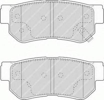 Колодки тормозные дисковые Premier Ferodo FDB1606FDB1606