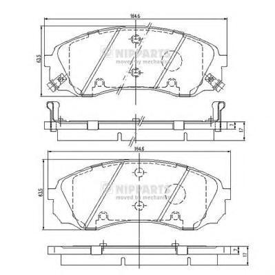Колодки тормозные передние Nipparts N3600329N3600329