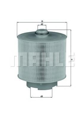 Элемент воздушного фильтраLX10062D